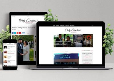 Only Simchas – Content Website