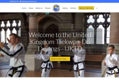 Martial Arts School Website